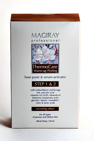 MAGIRAY THERMOCARE WARM-UP PEELING (THERMOCARE BASE PASTE + THERMOCARE SERUM-ACTIVATOR) Система «Термокэа» (скраб + серум-активатор) (100 ml + 125 ml)