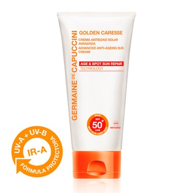 Germaine de Capuccini GOLDEN CARESSE Антивозрастной крем повышенной защиты SPF50+ (ADVANCED ANTI-AGEING SUN CREAM SPF50+ 50 ml). 81376