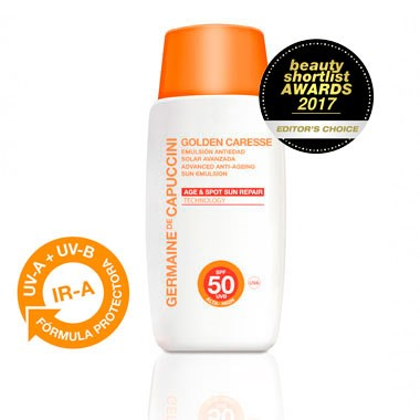 Germaine de Capuccini GOLDEN CARESSE Эмульсия антивозрастная SPF50 (ADVANCED ANTI-AGEING SUN EMULSION SPF50 50 ml). 81181