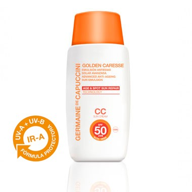 Germaine de Capuccini GOLDEN CARESSE Эмульсия антивозрастная с тоном SPF50 (ADVANCED ANTI-AGEING SUN EMULSION SPF50 СС 50 ml). 81182