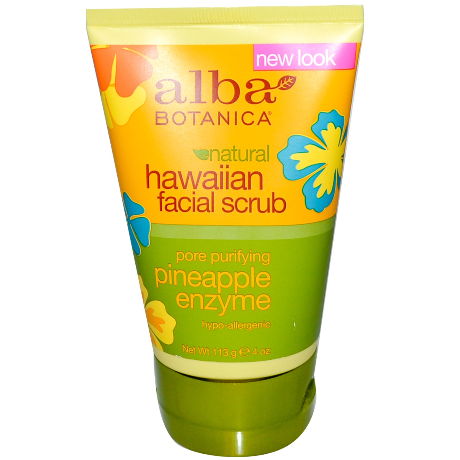 Alba Botanica Hawaiian Pineapple Enzyme Facial Scrub Гавайский скраб для лица (113 g) AL00808