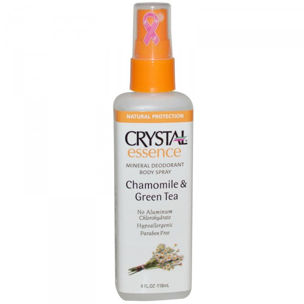 "Crystal Essence Chamomile & Green Tea Дезoдорант-спрей ""Ромашка и зелёный чай"" 118 ml 25391"