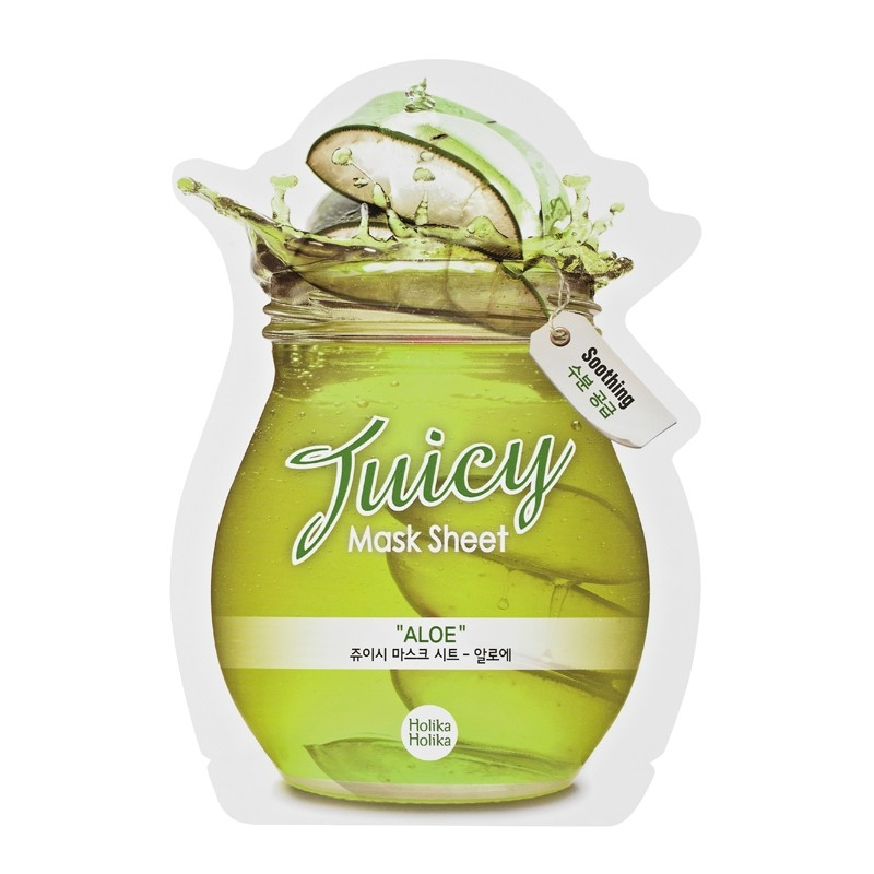 HOLIKA HOLIKA Juicy Mask Sheet Aloe Маска тканевая для лица (сок алоэ) (20 ml) 20011344