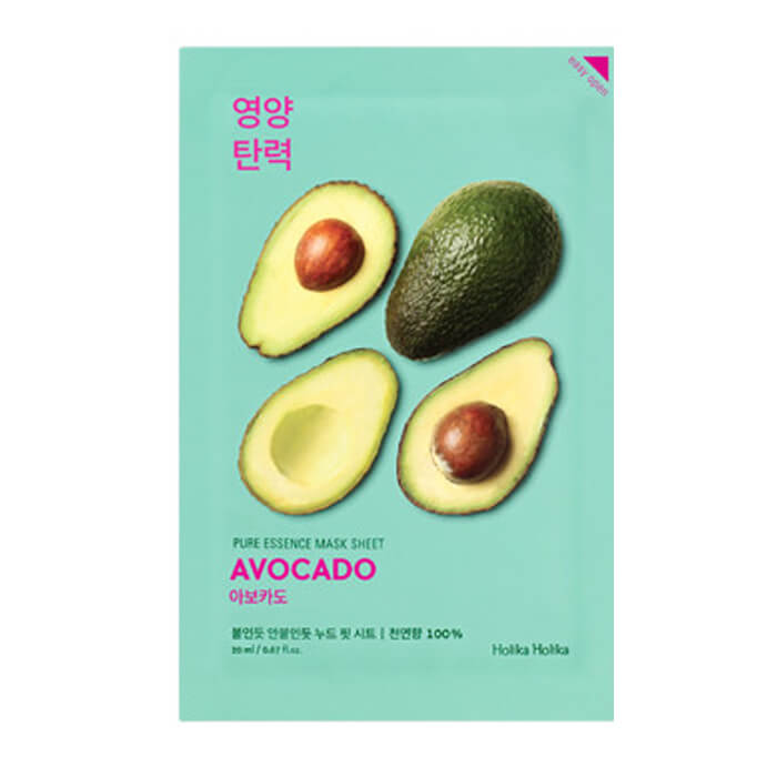 HOLIKA HOLIKA Pure Essence Mask Sheet Avocado Маска тканевая смягчающая (авокадо) (20 ml) 20010104