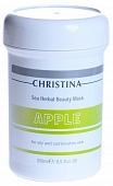 CHRISTINA Sea Herbal Beauty Mask Green Apple - Яблочная маска красоты для жирной и комбинированной кожи 250 ml