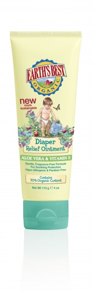 Earth's Best Diaper Relief Ointment Aloe Vera & Vitamin E Крем против опрелостей с Алоэ вера и витамином E под подгузник (113 g) J00704