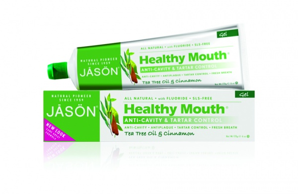 "JĀSÖN Healthy Mouth Anti-Cavity & Tartar Control Tea Tree Oil & Cinnamon Gel Toothpaste Гель-паста с маслом чайного дерева, коэнзимом Q10 и фтором ""Чайное дерево"" (170 g) J01525"