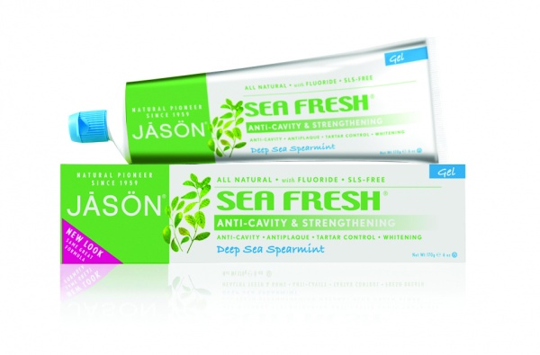 "JĀSÖN Sea Fresh Anti-Cavity & Strengthening Deep Sea Spearmint Gel Toothpaste Гель-паста ""Морская свежесть"" с коэнзимом Q10 и фтором (170 g) J01530"
