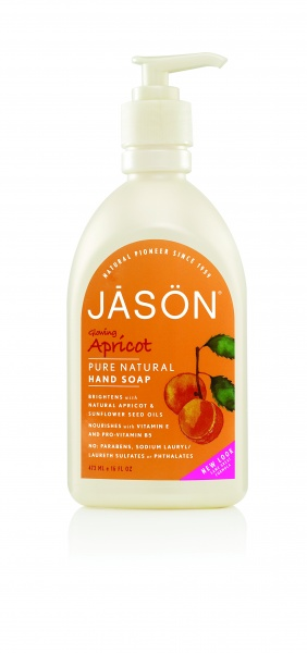 "JĀSÖN Pure Natural Hand Soap Glowing Apricot Жидкое мыло для рук ""Абрикос"" (473 ml) J02001"