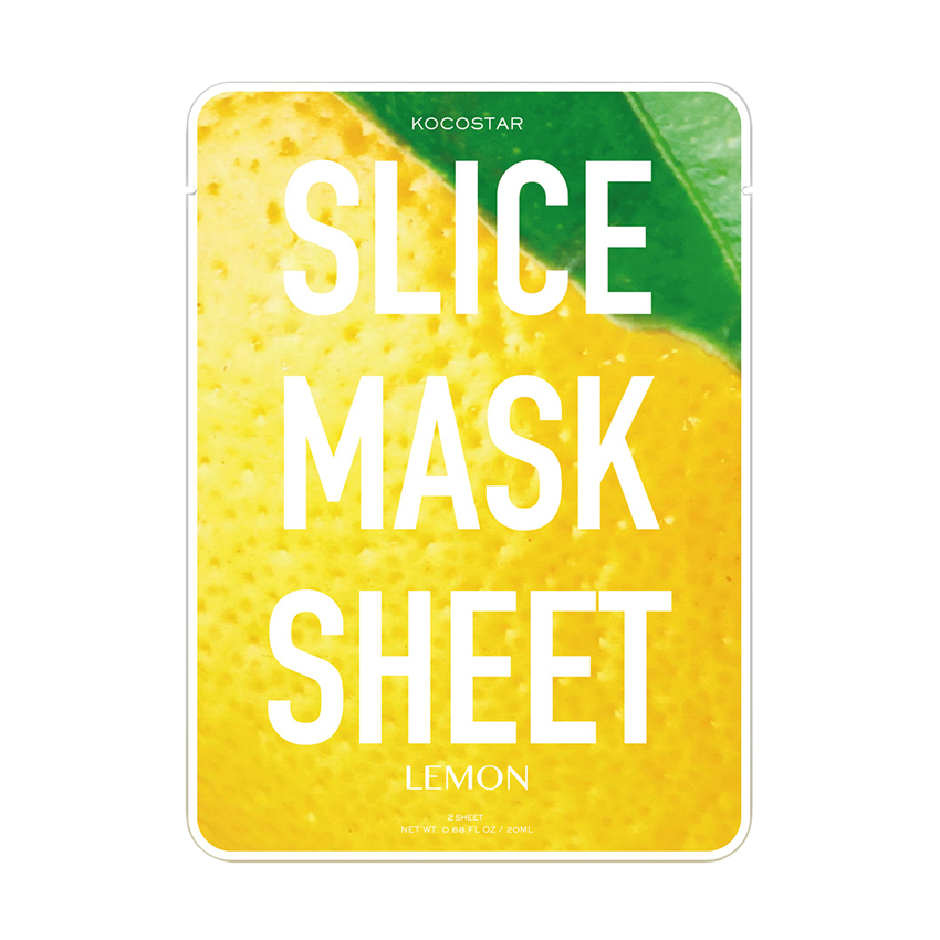 Kocostar Lemon Slice Mask Sheet Маска-слайс лимон (20 ml) 20-0011