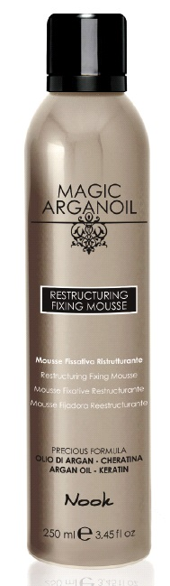 Nook Magic Arganoil Restructuring Fixing Mousse Мусс восстанавливающий для укладки волос средней фиксации (250 ml) 537