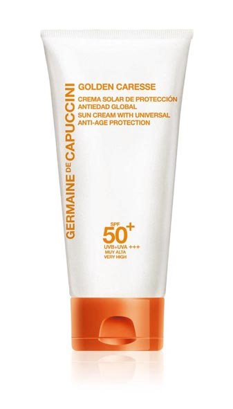 Germaine de Capuccini GOLDEN CARESSE Антивозрастной крем SPF 50+ (SUN CREAM WITH UNIVERSAL ANTI-AGE PROTECTION SPF50+ 50 ml). 81175