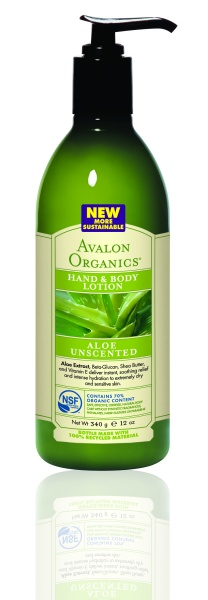 Avalon Organics Hand & Body Lotion ALOE UNSCENTED Лосьон с алоэ без запаха (340 g) AV35217