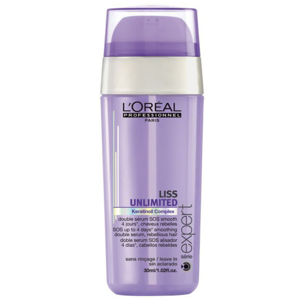 L'Oreal Professionnel Liss Unlimited Double Serum SOS Smooth Двухфазная сыворотка для непослушных волос (30 ml) E0742300