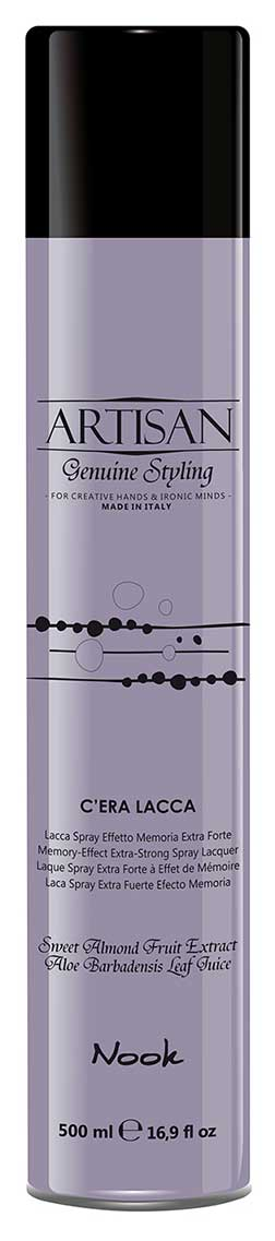 Nook Artisan Genuine Styling Memory-Effect Extra-Strong Spray Lacquer Лак для волос экстрасильной фиксации (500 ml) 1312