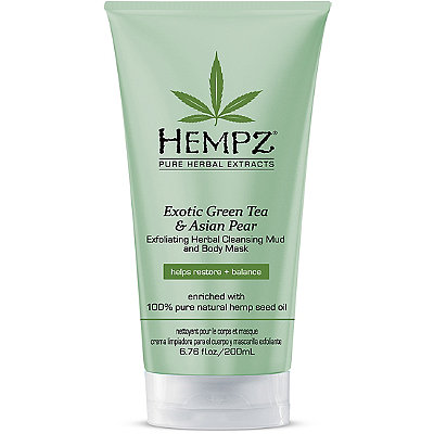 HEMPZ Маска-глина отшелушивающая / Exotic Green Tea & Asian Pear Exfoliating Herbal Cleansing Mud & Body Mask 200мл 676280022669