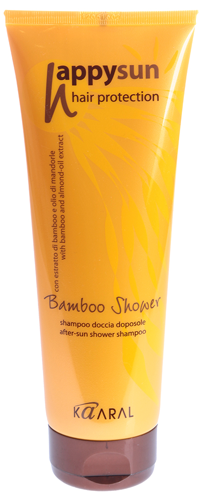 Kaaral Happy Sun Bamboo Shower After-Sun Shower Shampoo Шампунь для волос и тела 250 ml 1035